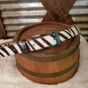 Elite vintage Zebra print belt